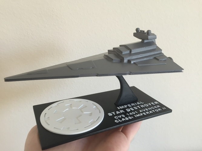 Star Wars Star Destroyer with Detailed Stand
