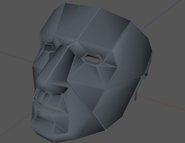 Medium Printable Lowpoly mask 3D Printing 70718