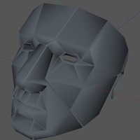Small Printable Lowpoly mask 3D Printing 70718