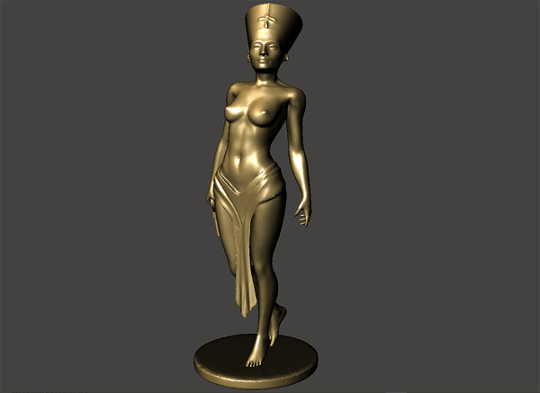 Medium Nefertiti-with-body 3D Printing 70845