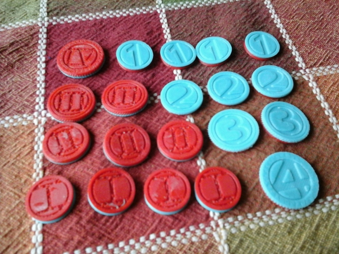 Coin Tokens 3D Print 713