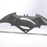 Small Superman Vs Batman 3D Logo 3D Printing 71383