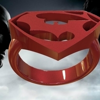 Small batman vs superman ring 3D Printing 71421