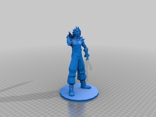 Cloud Strife - Final Fantasy VII 3D Print 71528