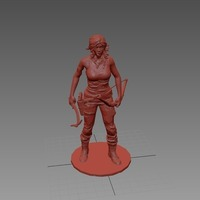 Small New Tomb Raider with bow and clothes 3D Printing 71552