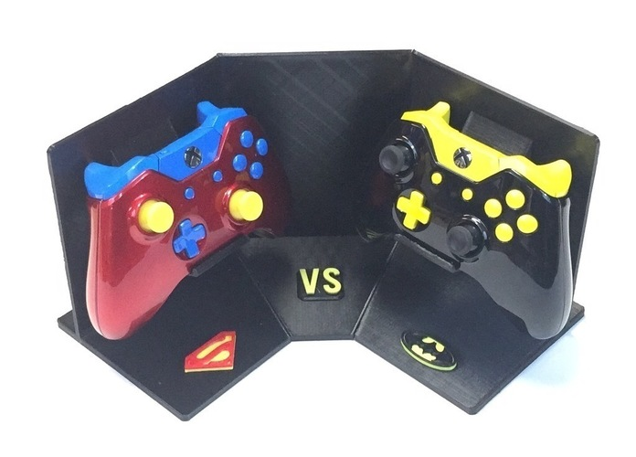 Corner Exhibition Stands Xbox One : D printed batman vs superman xbox one display stand by