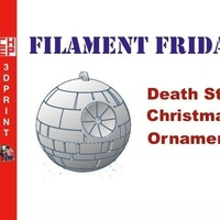 Small Death Star Christmas Ornament 3D Printing 71655