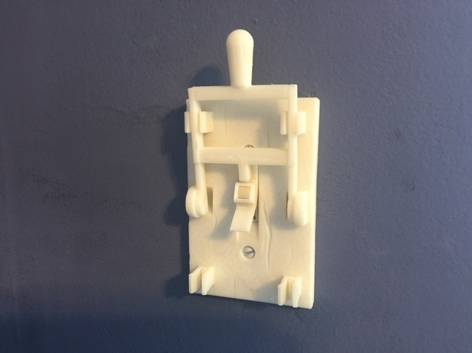 Reprint of Frankenstein Light Switch Plate from LoboCNC 3D Print 71678