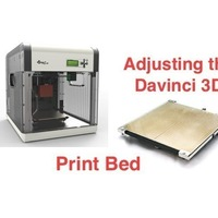 Small Test Print for Adjusting Davinci 1.0 Heated Bed 3D Printing 71686