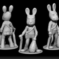 Small OLD EASTER BUNNY 3D Printing 71814