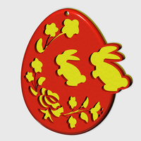 Small Easteregg with Hungarian pattern 3D Printing 71832