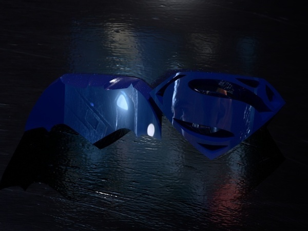 Medium Batman vs. Superman - choose your side 3D Printing 71836