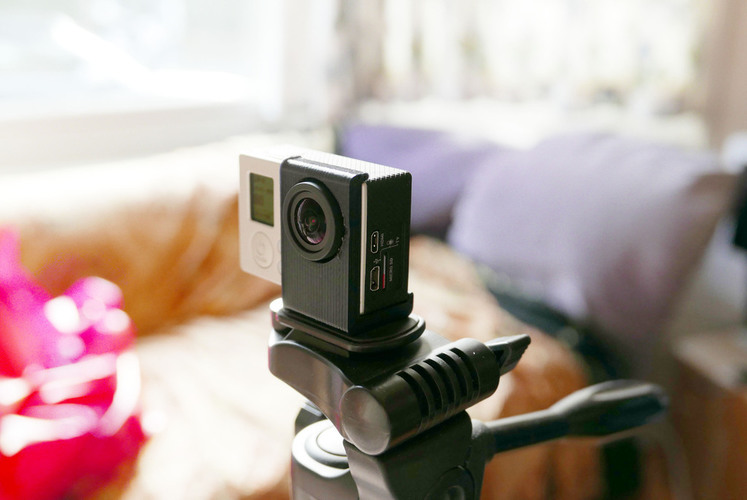Simple tripod mount for bare GoPro Hero 3,3+ ,3+ black. Without  3D Print 72051