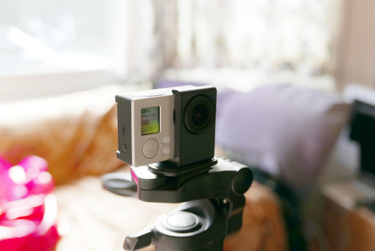 Simple tripod mount for bare GoPro Hero 3,3+ ,3+ black. Without  3D Print 72052