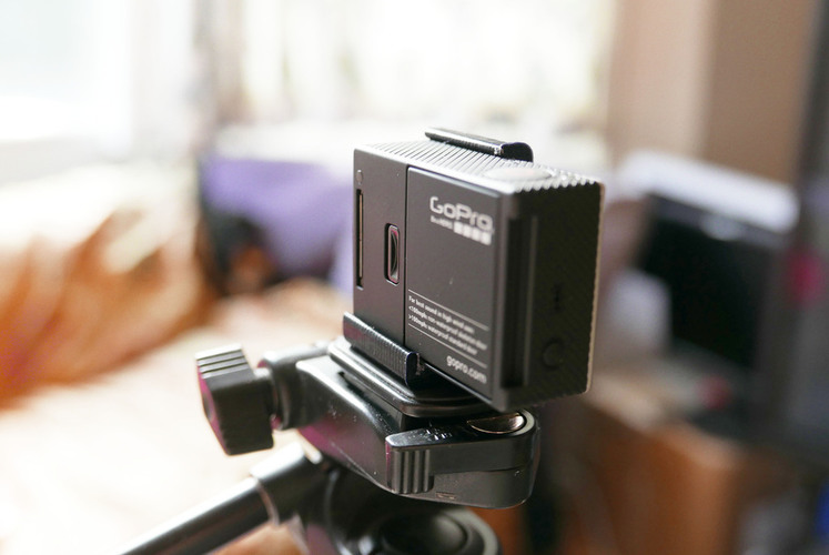 Simple tripod mount for bare GoPro Hero 3,3+ ,3+ black. Without  3D Print 72054