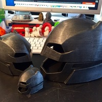 Small Helmet batman vs Superman (flat bottom) 3D Printing 72075