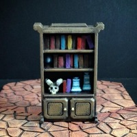 Small Delving Decor: Wizard's Shelf 3D Printing 72126