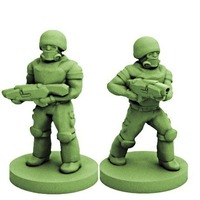 Small Colonial Soldiers (18mm Scale) 3D Printing 72134