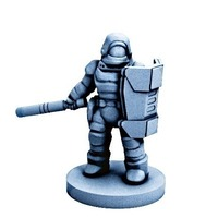 Small Dominion Peacekeeper Mark-V (18mm scale) 3D Printing 72146