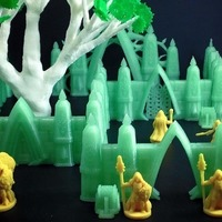 Small Modular Elvish Walls (18mm scale) 3D Printing 72149