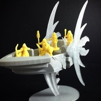 Small Elvish Aether Ship (18mm scale) 3D Printing 72172