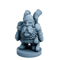 Small Dwarfclan Tinkerer (18mm scale) 3D Printing 72178