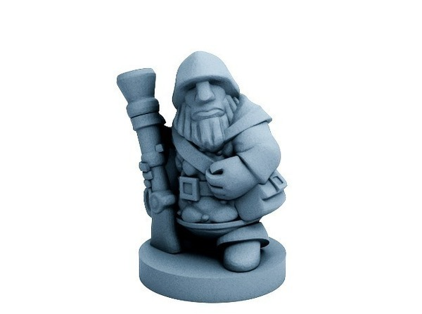 Medium Dwarfclan Gunner (18mm scale) 3D Printing 72183