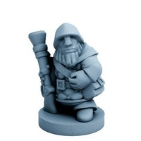 Small Dwarfclan Gunner (18mm scale) 3D Printing 72183