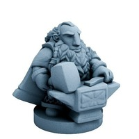 Small Dwarfclan Forgemaster (18mm scale) 3D Printing 72185