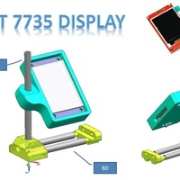 Small color display support / clock station 3D Printing 72220