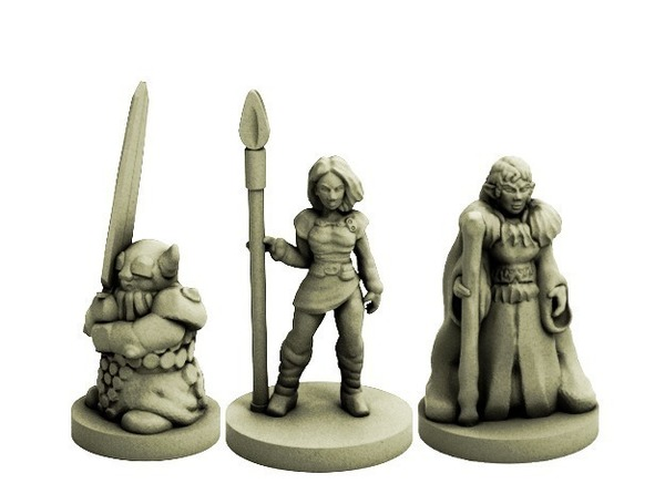 Medium Fantasy Adventuring Party (18mm scale) 3D Printing 72229