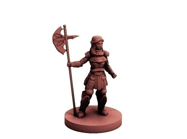 Medium Knight of the Rose (18mm scale) 3D Printing 72234