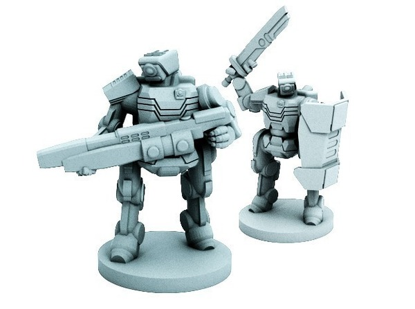 Medium C-Series Cyclops Automated Militia (18mm scale) 3D Printing 72237