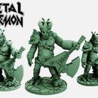 Small Metal Demon (28mm scale) 3D Printing 72250