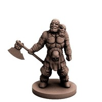 Small Red Ravager (18mm scale) 3D Printing 72265