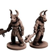 Small Minotaur (18mm scale) 3D Printing 72268