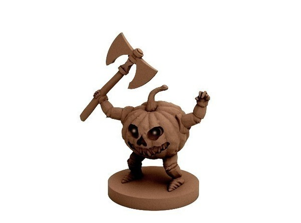 Medium Pumpkin Warrior (18mm scale) 3D Printing 72283