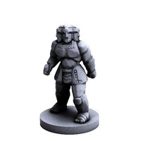 Small Iron Guardian (18mm scale) 3D Printing 72286