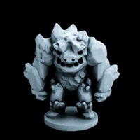 Small Ice Elemental (18mm scale) 3D Printing 72292