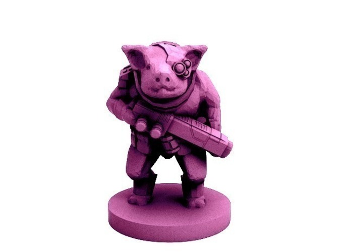 Pigman Commando (18mm scale) 3D Print 72301