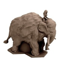 Small Shamanic Mammoth Rider (18mm scale) 3D Printing 72317
