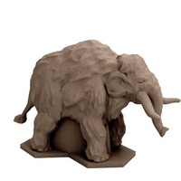 Small Woolly Mammoth (18mm Scale) 3D Printing 72319