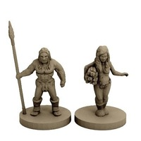 Small Neanderthal Hunter and Gatherer (18mm scale) 3D Printing 72322
