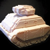 Small Gilgamesh Pattern Battle Tank (18mm scale) 3D Printing 72383