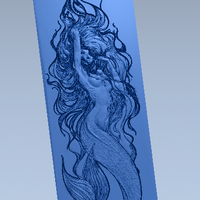 Small Panels mermaid 3D Printing 72416