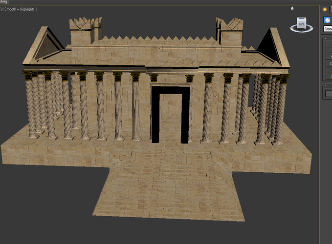 SYRIA. The Temple Of Baal 3D Print 72449
