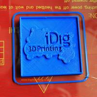 Small iDig3Dprinting test plaque 3D Printing 72459