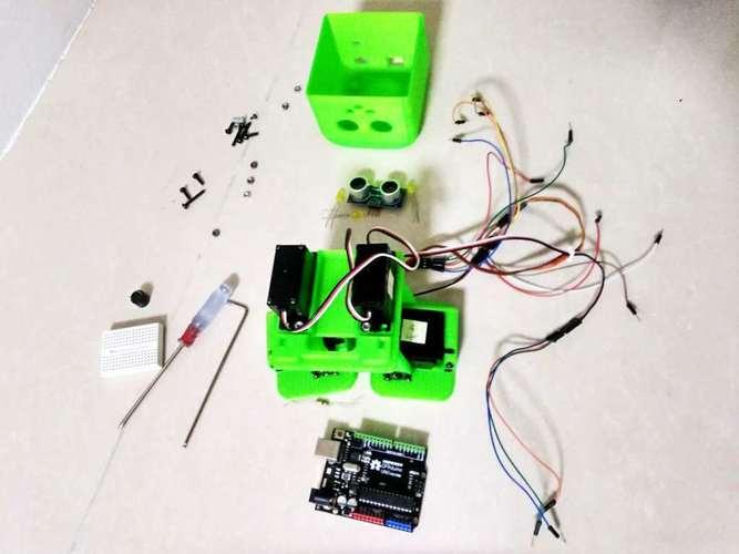D printed tito biped robot by camilo parra palacio hape