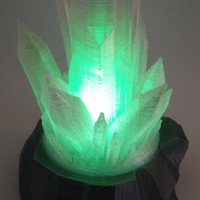 Small Kryptonite tea light 3D Printing 72605