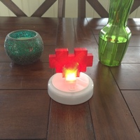 Small 8 Bit Heart, LED Touch Night Light 3D Printing 72829